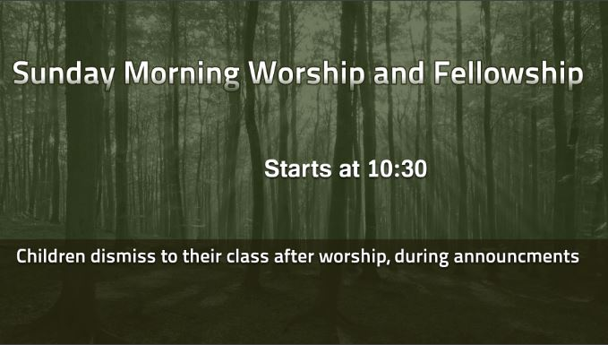 Sunday Morning Worship and Fellowship